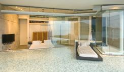 Master bedroom from the pool